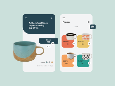 Mugs mobile app mobile design mobile app mobile concept app ux ui  ux ui design
