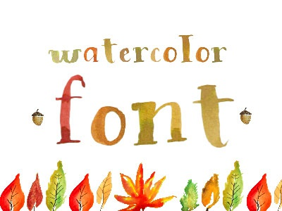 Watercolor font colorfont fontself brush lettering typography text font