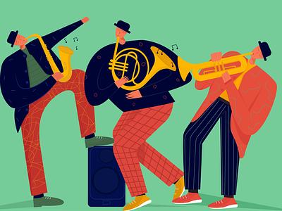 jazz evening cozy mood music instruments jazz music jazz sophie tsankashvili music character style vector illustration vector illustration