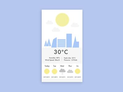 DailyUI #037 Weather