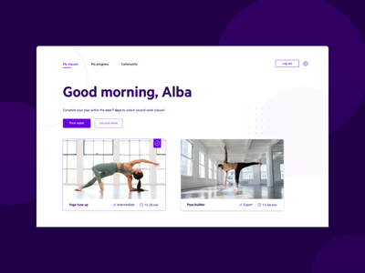 Yoga.people — online program 🧘♀ typography course program online yoga studio sport fitness yoga website design ux ui