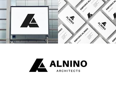 ALNINO Architects lettermark identity monogram minimalist icon branding symbol modern logo
