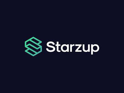 Starzup monogram simple minimalist icon branding symbol modern logo