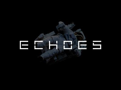 ECHOES futuristic tech robot space lettermark alphabet simple minimalist icon branding symbol modern logo