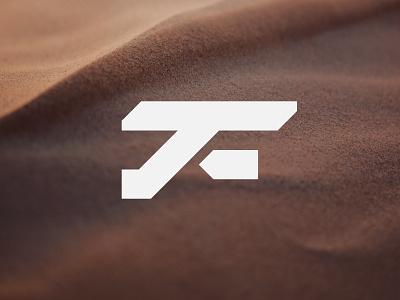 TF brand simple lettermark alphabet monogram minimalist branding symbol modern logo