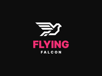 Flying Falcon hawk eagle bird animal identity minimalist icon branding symbol modern logo