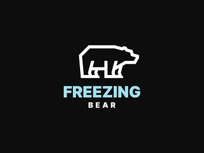 Freezing Bear wild animal simple design polar bear branding symbol modern logo