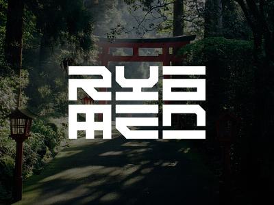 RYOMEN design alphabet lettermark typography logotype simple minimalist branding symbol modern logo