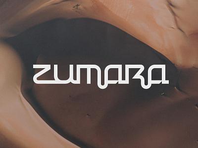 ZUMARA brand typography logotype wordmark lettermark minimalist icon branding symbol modern logo