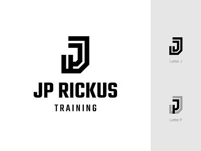 JP Rickus Training basketball sport lettermark alphabet identity monogram minimalist icon branding symbol modern logo