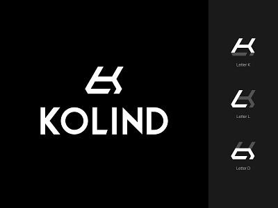 KOLIND lettermark alphabet monogram simple minimalist icon branding symbol modern logo