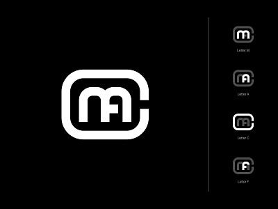 MACF lettermark alphabet identity monogram minimalist icon branding symbol modern logo