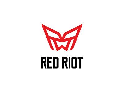 Red Riot simple monogram identity minimalist icon branding symbol modern logo