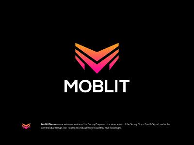 MOBLIT gradient lettermark monogram m minimalist symbol modern branding logo ui