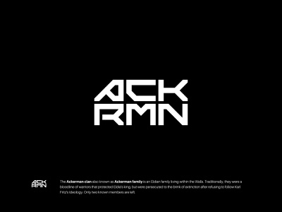 ACKRMN simple monogram lettermark wordmark modern minimalist icon symbol branding logo