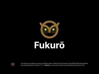 Fukurō icon branding night minimalist bird owl symbol modern logo