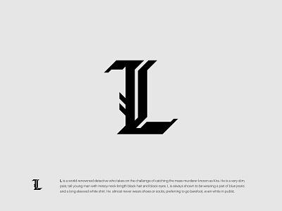 L design typography logotype wordmark lettermark simple minimalist gothic modern monogram logo graphic design