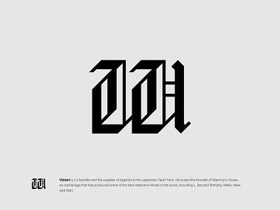 W design typography logotype wordmark gothic lettermark monogram icon minimalist branding symbol modern logo