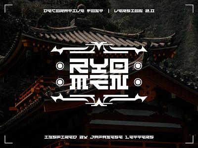 Ryomen 2.0 - Decorative Font type logotype decorative japanese font typography minimalist simple design modern