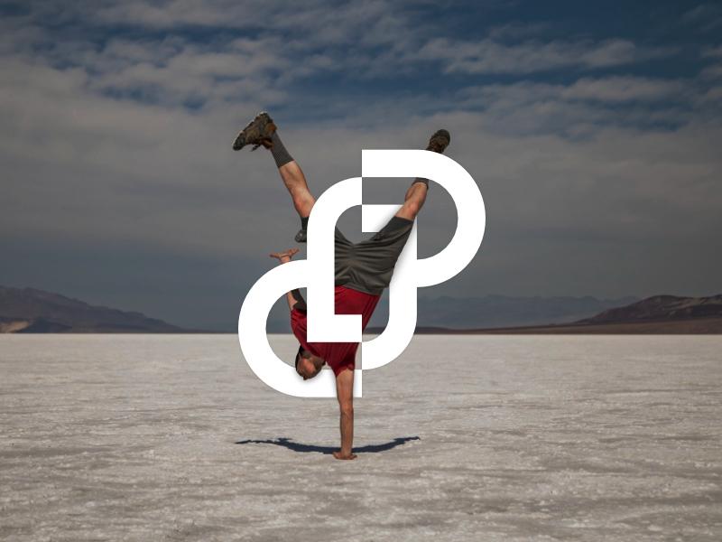 J + P Ambigram Logo identity branding icon symbol minimalist modern ambigram alphabet logo