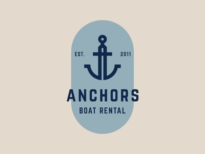 Anchors Boat Rental anchor line brand alphabet simple identity icon modern branding symbol logo