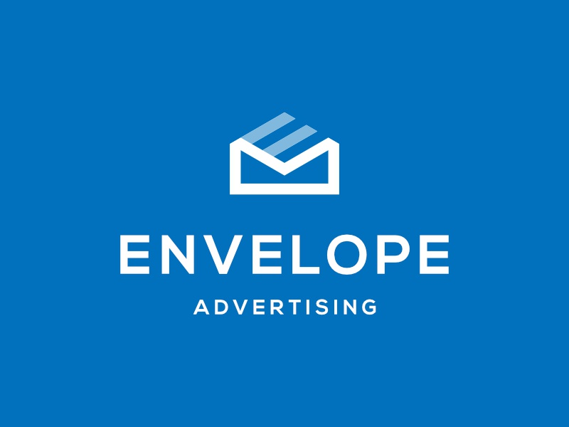 Envelope Advertising app brand simple minimalist identity icon modern branding symbol logo