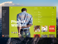 TIDAL • Concept, player, artist page.