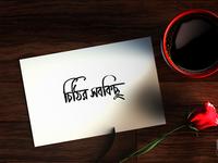 Bangla Typography Cithir Sobkichu