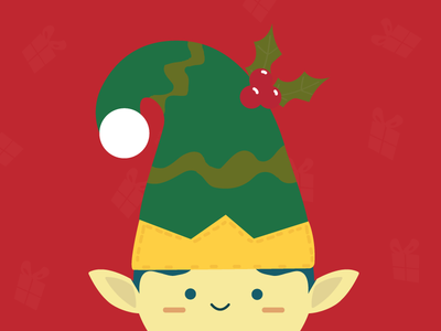 Elf xmas illustration