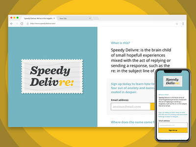 Speedy Delivre: Website Mockups (this is a real thing!) websites web-design passion-projects real-work