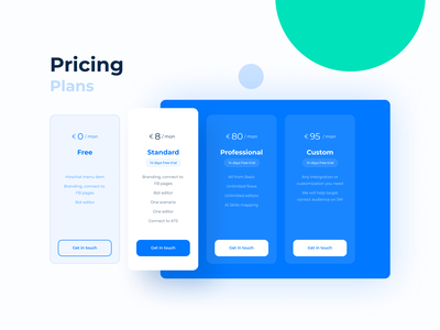 Pricing Plans website typography design webdesign web vector flat graphicdesign ux ui