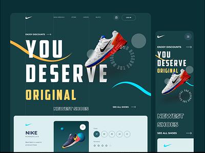 NIKE | You Deserve Original minimal app branding website design flat webdesign vector ux ui