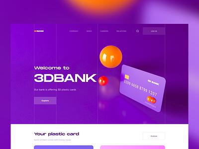 3DBANK typography webdesign web 3d art 3d ux ui