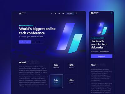 World Net Summit vector design website web webdesign ux ui
