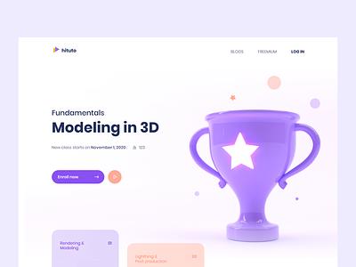 Modeling in 3D minimal illustration website webdesign web ux ui cinema4d 3d 3d art