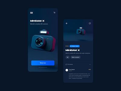 Minicamx 3d illustration cinema 4d 3d website flat design webdesign web vector ux ui