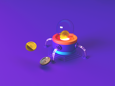 Money machine illustration ux ui 3d illustration cinema 4d 3d modeling 3d