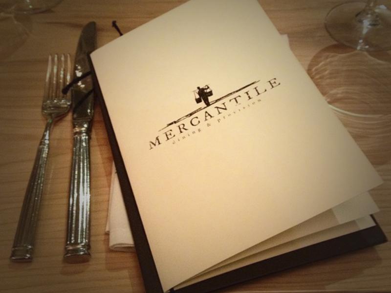 Mercantile menu