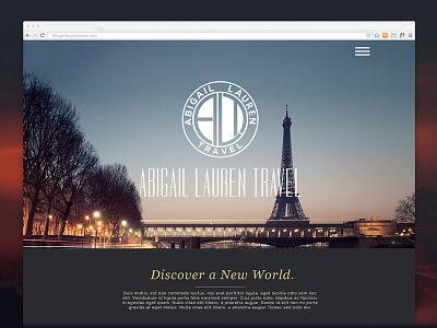 Abigail Lauren Travel travel paris grid responsive layout design web zenman
