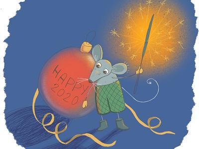 Illustrated postcard mouse illustrated postcard digital illustration comic illustration funny illustration cute art fairytale procreate animal illustration picture book book illustration