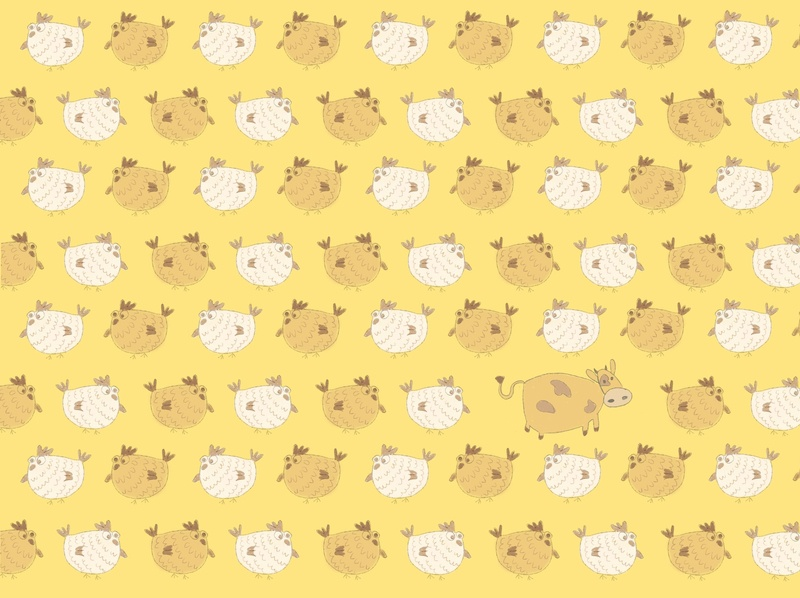 A flock of chikens digital illustration children book illustration illustrated funny illustration cute art procreate picture book book illustration pattern animal art book designer book illustrator illustrator animal illustration