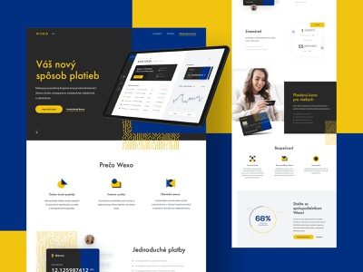 Wexopay landingpage exchange payments crypto wallet landing page design landing page ui ux design web illustration crypto currency app website