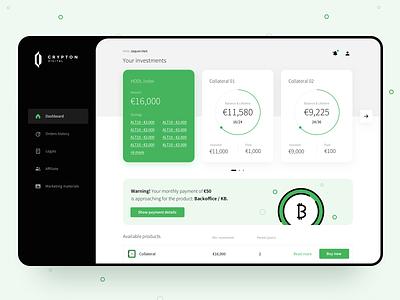 Crypton Digital Dashboard ui ux design website ux ui web app webapp dashboard design dashboard crypto currency crypto
