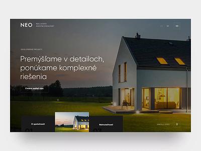 Real Estate Services - Website blackandwhite simple clean fullscreen realestate website design website webdesign