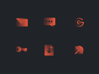 Flib gradient icon set