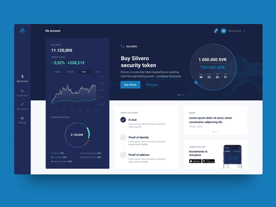 Dashboard investments wallet dektop crypto currency crypto token graph dashboard interface app design app web  design ui ux design