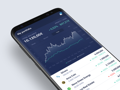 Android App app mobile app investments crypto currency crypto interface design interface ui ux design android app android