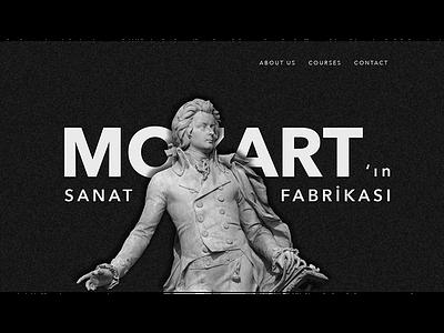 Music School Website web design music ui design