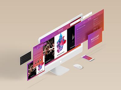 Website and app design concept web design music uxui design