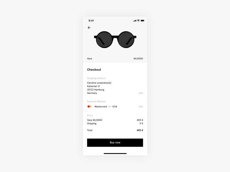 Onlineshop Checkout dailyui ui design checkout